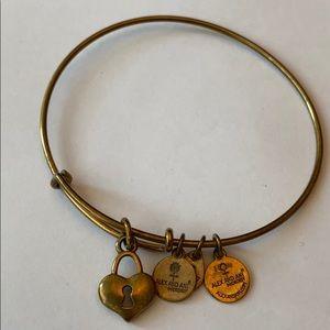 Alex and Ani gold bangle bracelet